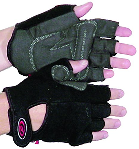(Push Xc X-Small Leather/Terry-Black Gloves )