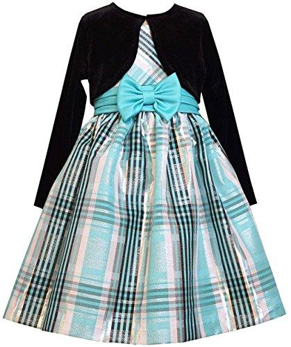 Women Denim Long Sleeve Dress Bow Sashes - 8
