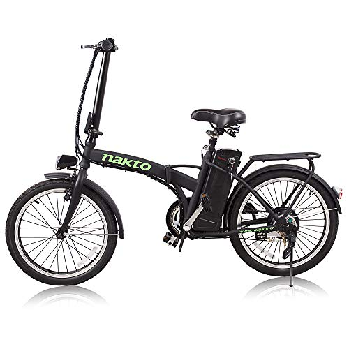 NAKTO 20 Commute Electric Bicycles 1 Year Warranty 250W 300W Power Assisted Bicycle for Male Female Teenagers with Removable 36V 10A Large Capacity Lithium Battery and Charger E-Bike