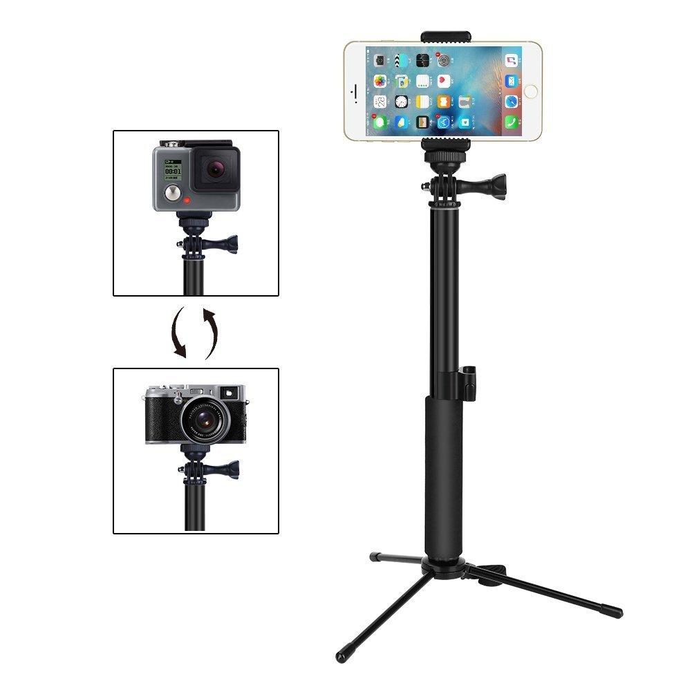 GHB Foneso Selfies Stick con Bluetooth inalámbrico Disparador ...