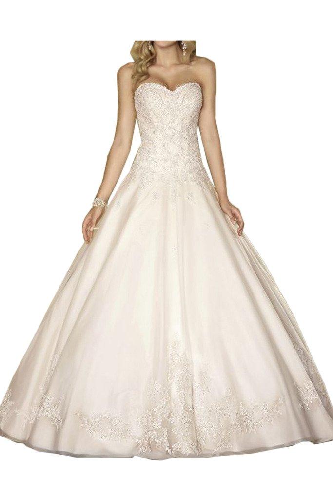 (ウィーン ブライド)Vienna Bride ウェディングドレス 花嫁ドレス ふんわりとする裾 ホワイト 大胆背中開き 肩紐 サテン チュール アップリケ レース B01N2YYQJX 17W|AB AB 17W