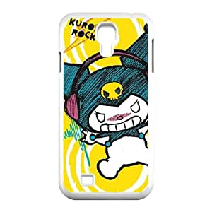Kuromi Rocker Girl Yellow Stereos Samsung Galaxy S4 9500 Cell Phone Case White Protect your phone BVS_578688
