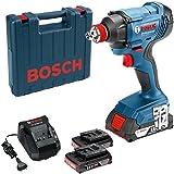 Chave de Impacto Bosch GDX 180-LI, 18V com 2 baterias, 1 carregador e maleta