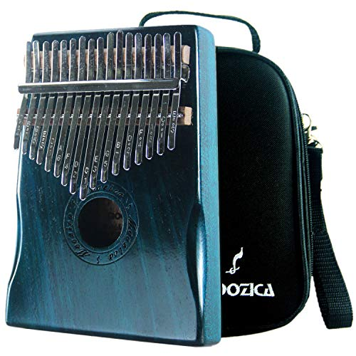 Marimba Instruments - Moozica 17 Keys Kalimba Marimba, Professional Thumb Piano Sanza Mbira Musical Instrument Gift (Mahogany - K17BL)