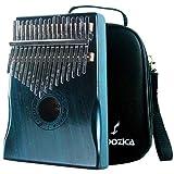 Moozica Mahogany Tone Wood 17 Keys Kalimba Marimba, High Quality Professional Finger Thumb Piano With Professional Kalimba Bag(Dark Green)