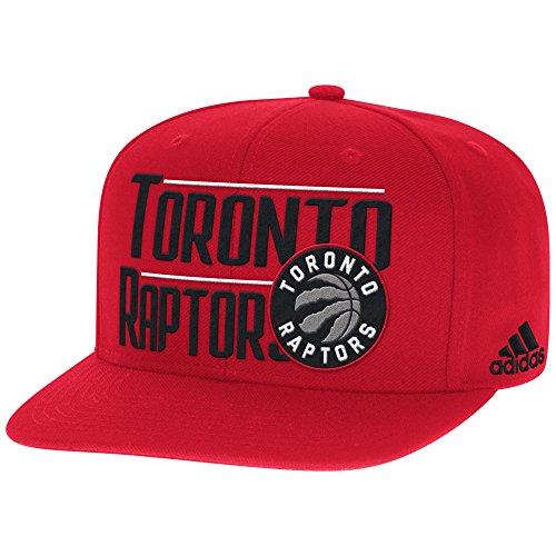 Toronto Raptors Flat (NBA Toronto Raptors Men's High Box Flat Brim Snapback Cap, One Size, Red)
