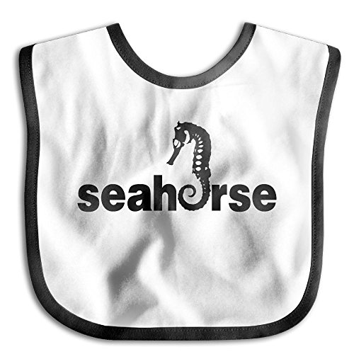 Exotica Fabric (Seahorses Animal Funny Baby Bibs For Girls Solid Colors Infant Bibs Toddler)