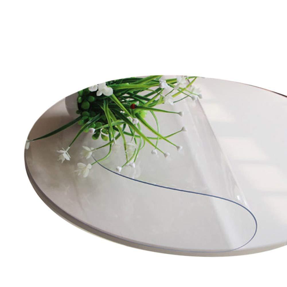 丸い形状の透明なテーブルクロスPVCソフト防水アンチホットスクラッチ耐性テーブルマットプラスチックダイニングテーブルカバー,3MM,160CM 160CM 3MM B07SLYXJ6D