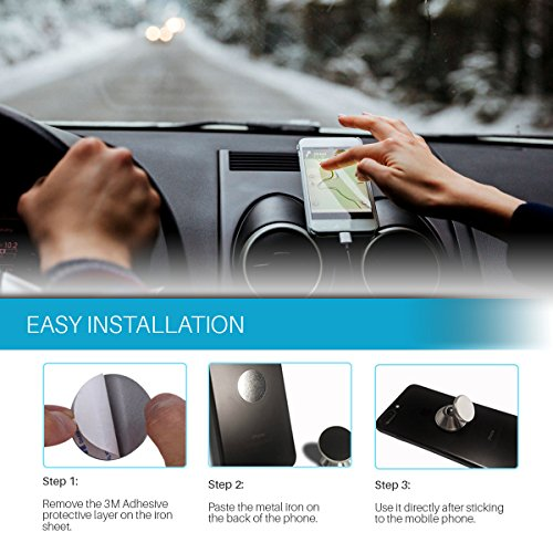 Cell Phone Magnetic Car Mount Hands Free Phone Holder Universal Use All iPhone Samsung Galaxy Uber Lyft Useful Gadgets Useful Gifts For Adults Techie Gifts For Men VALENTINES GIFTS FOR HIM HER Photo #5