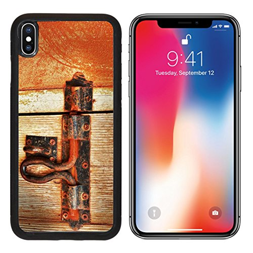 MSD Premium Apple iPhone X Aluminum Backplate Bumper Snap Case Bolt lock door vintage style IMAGE (716 Entrance)