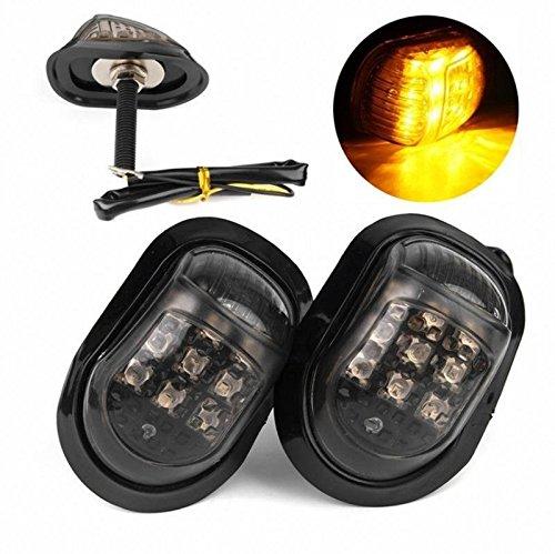 Motorbike Turn Signal Indicators - MASO 2PCS 12V LED Amber Lighting Turning Lights Lamp for Motorcycle
