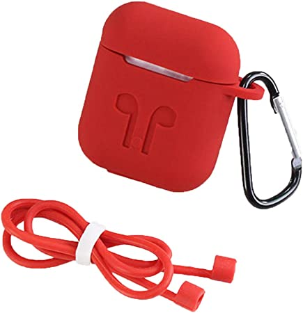 ACOMG 2443/5000 Estuche metálico Airpods, Kits de Accesorios de Funda Protectora de Piel Completa Compatible con Estuche de Carga Airpods [No para Estuche de Carga inalámbrica],Red: Amazon.es: Hogar