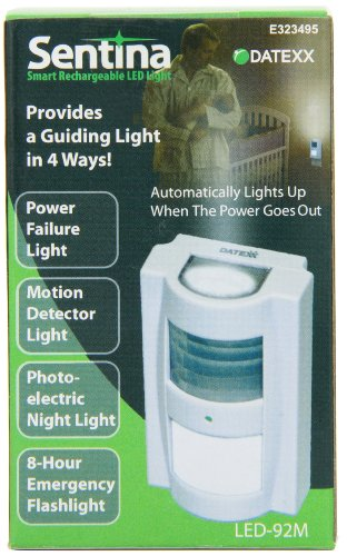 Datexx Sentina Smart Rechargeable LED Light,White,One Size
