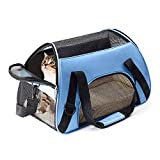 Getek Cat Carrier Soft Sided Airline Approved Under Seat Compatibility Travel Bag for Small Dogs and Cats