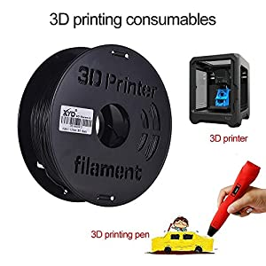 Cerobit 1kg/ spool 1.75mm flexible tpu filament printing material supplies white, black, transparent for 3d printer drawing pens_color:black