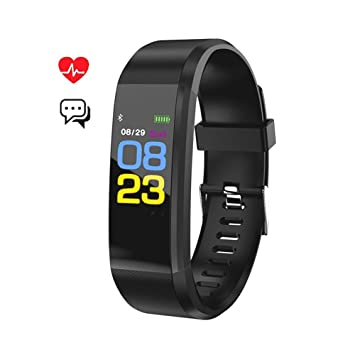 Fitness Tracker,Smart Band Bracelet Watch Activity Tracker Waterproof  Bluetooth Wristband with Heart Rate Monitor Pedometer Sleep Monitor Calorie