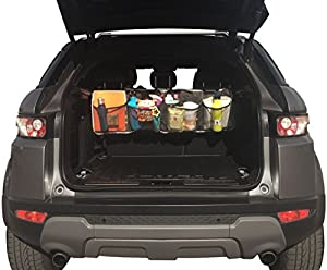Trunk Organizer by Tidy Ridey - Folding Car Organizer - Car Storage Chest - Holds Vehicle Safety Items, Car Cleaning Tools, & Jumper Cables - Easy, Versatile & Convenient Storage