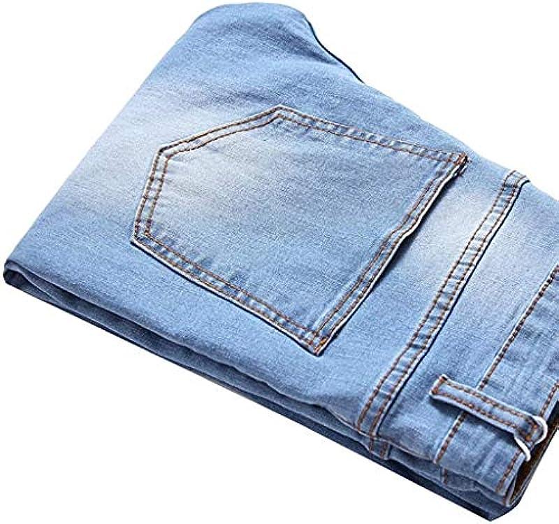 Emmay Männer Męskie Distressed Jeanshose Ripped Ausgefranste Slim Wesentlich Fit Jeans Skinny Stretch Hose Slim Männer Jeanshosen Denim Pants Super Qualität Verschleißfest Keine Verformung: Odzież