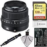 Fujifilm GF 63mm f/2.8 R WR Lens with 128GB Card + Battery + Kit for GFX 50S Digital Camera