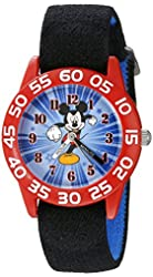 Disney Kids' W002369 Mickey Mouse Time Teacher Watch with Black Band