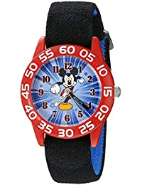 Kids' W002369 Mickey Mouse Time Teacher Watch with Black Band