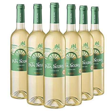 Pata Negra Verdejo Vino Blanco DO Rueda, Crianza de, Pack de 6 Botellas x 75 cl: 450 cl - Volumen de Alcohol 12,5%