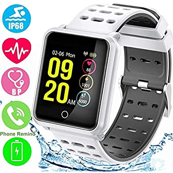 YSCEN Smart Watch, Activity Monitor, Fitness Tracker with Heart Rate Monitor, Sleep Monitor Pedometer, Calorie Burned Activity Tracker, IP68 Waterproof ...