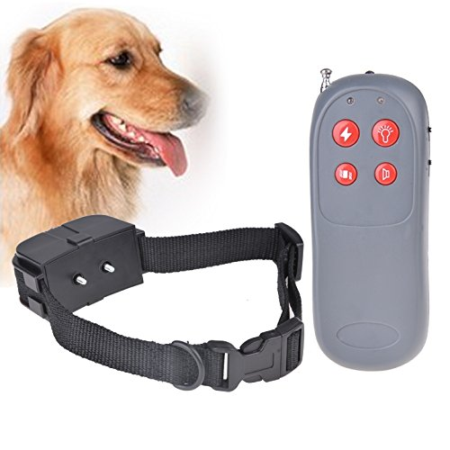 4-in-1 Dog Training Shock and Vibration Collar with remote