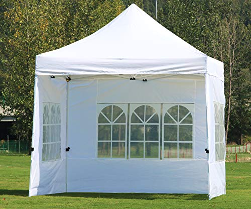 CRINEX 10x10 Canopy Tent White, Pop Up Portable Shade