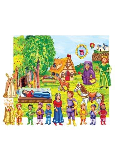 Snow White Felt Fun Set- Felt Figures Flannel Board and Case