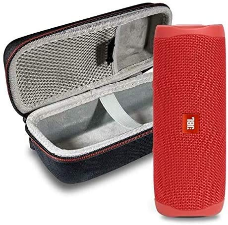 JBL Flip 5 Waterproof Portable Wireless Bluetooth Speaker Bundle with Hardshell Protective Case - Red