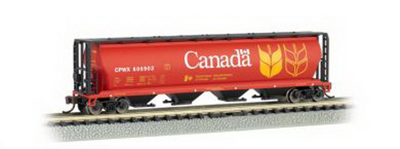 Bachmann Trains Canadian 4-Bay Cylindrical Grain Hopper, N Scale 19181