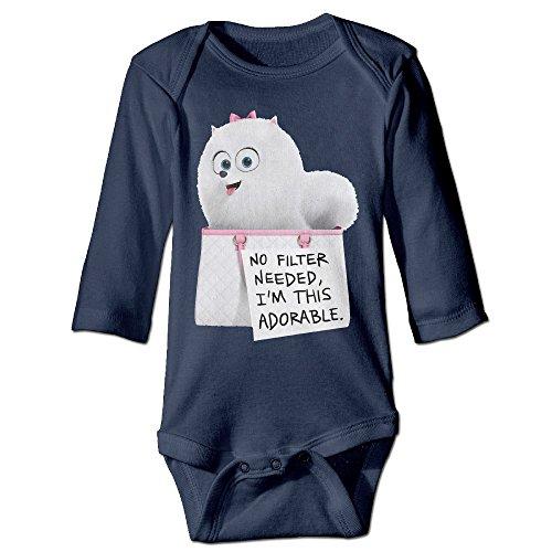 the-secret-life-of-pomeranian-long-sleeve-romper-tank-tops-for-6-24-months-infant