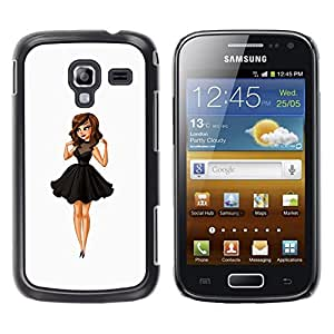Be Good Phone Accessory // Dura Cáscara cubierta Protectora Caso Carcasa Funda de Protección para Samsung Galaxy Ace 2 I8160 Ace II X S7560M // fashion kids lady sweet cute woman