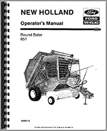 new holland 851 round baler operators manual  oem  new holland manuals amazon com books new holland 851 round baler service manual new holland 851 round baler specs