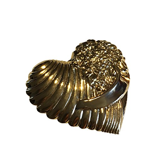 Big, Bold and Beautiful Brooches and Pins Jewelry Collection, Crystal and Vintage Brooches (Golden Heart) - Golden Heart Brooch