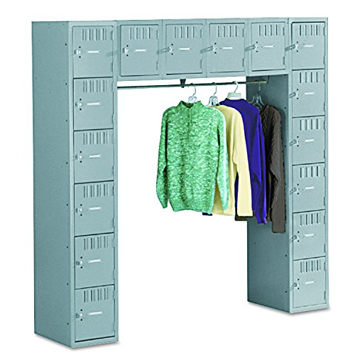 (Tennsco SRS721872AMG 72 by 18 by 72-Inch Locker with 16 Box Compartments and Coat Bar, Medium Gray)