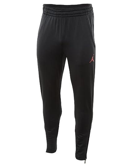 a47c4850e4d4 Amazon.com  Nike Mens Jordan 360 Fleece Tapered Sweatpants Black Infrared  23 808691-010 Size Large  Clothing