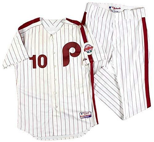 Majestic Uniform - Ben Francisco Phillies 2011 Game-Used/Worn Majestic Jersey/Uniform MLB holo - MLB Game Used Jerseys