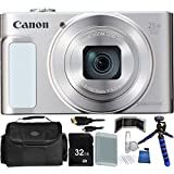 Canon PowerShot SX620 HS Digital Camera (Silver) - International Version (No Warranty) 32GB Bundle 14PC Accessory Kit Which Includes Replacement NB-13L Battery, 5 Piece Camera Cleaning Kit, MORE