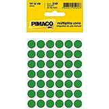 Etiqueta manual e multiuso tp12 verde 12,mm c/5 folhas - Pimaco