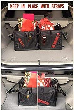 Klappbox Kofferraumbox Faltbox Organizer Tasche Auto Kofferraum Zubeh/ör Auto Kofferraumtasche mit stabilem Boden by Tuff Viking Multi-Abteil f/ür Auto SUV Minivan mit FREIER Ziehtasche