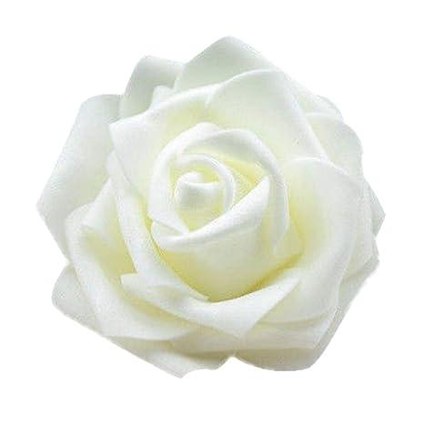 10 Rosen Schaumrosen weiß Hochzeit Blüte 7cm Foamrosen Rose Foam Dekorosen