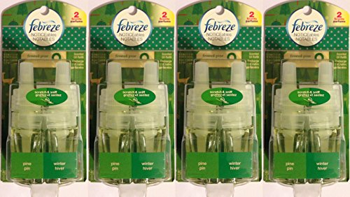 Febreze Noticeables Scented Oil Refill - Limited Edition - Frosted Pine - Single Refill - Pack of 4