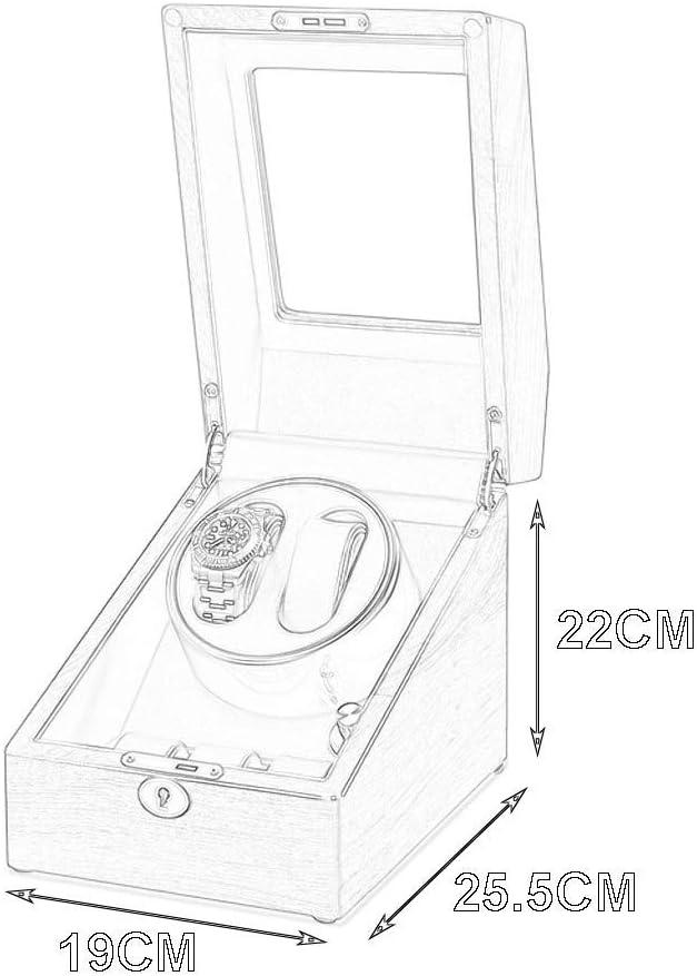 ZTMN Scatola per Carica Orologi Automatici, Scatola per Esposizione in Legno per Orologi 2 + 3, con Scatola per Orologi con Rotazione Ultra silenziosa A