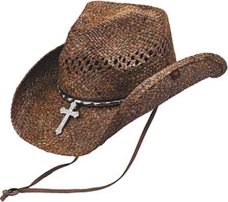 Ltd Wagon - Peter Grimm Ltd Unisex Wagon Raffia Straw Cowboy Hat Brown One Size