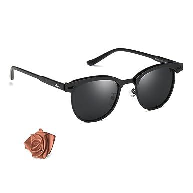 Aiblii Clubmaster Steampunk gafas de sol redondas para ...