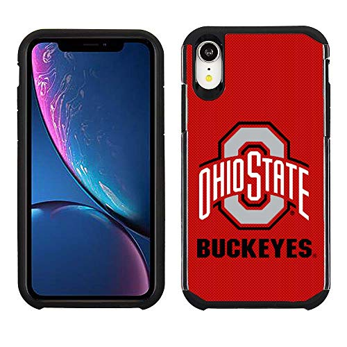 Prime Brands Group Cell Phone Case for Apple iPhone XR - Red/Black - NCAA Licensed Case for Ohio State Buckeyes