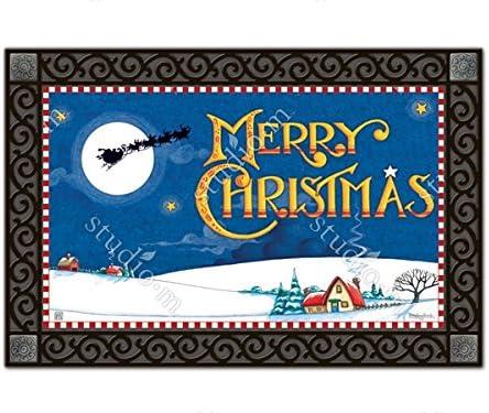 On His Way Merry Christmas MatMates Doormat 11461
