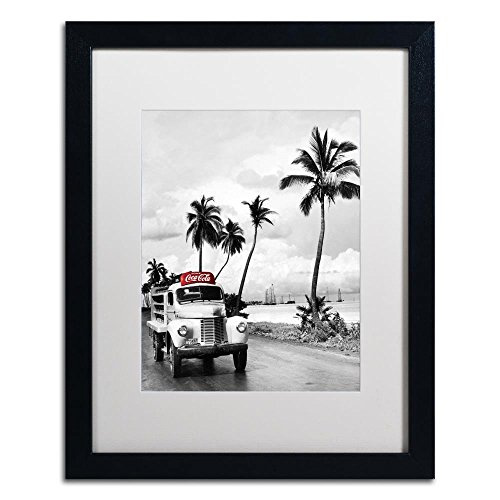 Trademark Fine Art COKE02-B1620MF Color Splash Vintage Photography 2 by Coca Cola, White Matte, Black Frame 16x20-Inch, - Photography Ocean Art